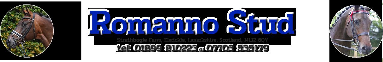 Romanno Stud, Lanarkshire, Scotland Logo